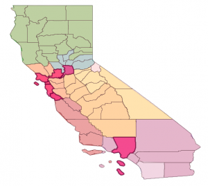 Building Footprints from Authoritative Sources, by County