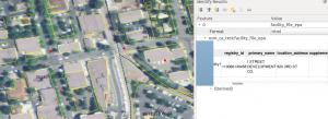 Davis, CA EPA-registered site POINT, Census 2016 Blockgroup ID on NAIP 2009